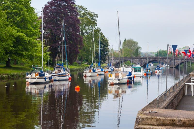Dardo del fiume a Totnes Devon immagini stock libere da diritti