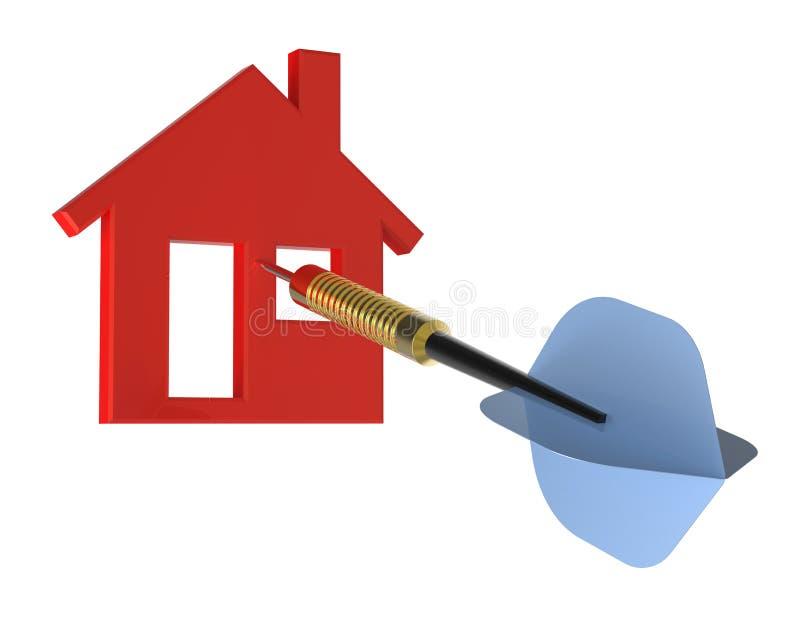 Download Dardo no alvo da casa ilustração stock. Ilustração de objetivo - 16874449
