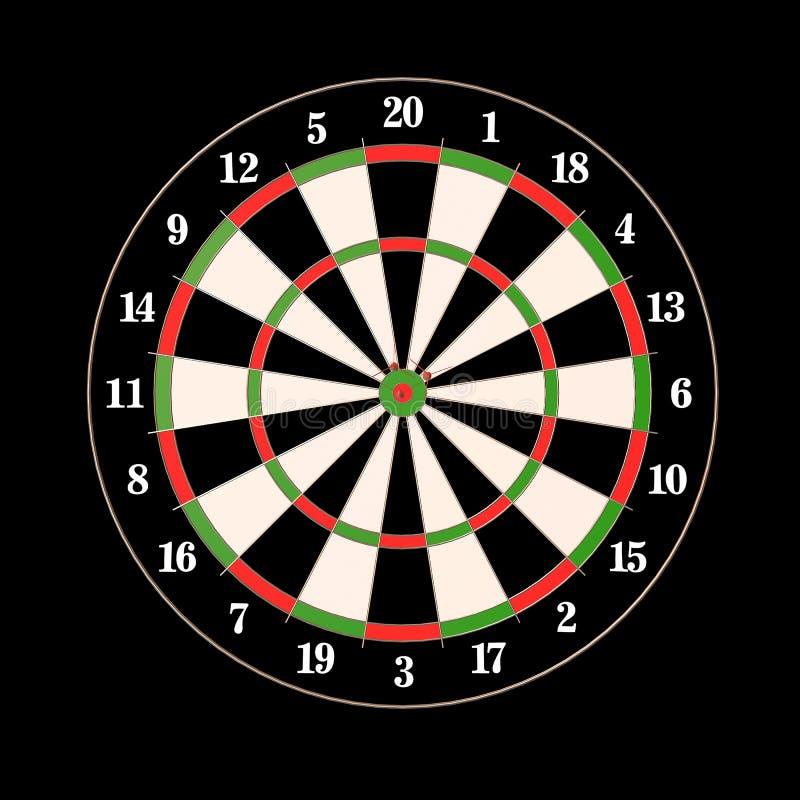 Dardos y ejemplo de las flechas 3d ilustración del vector