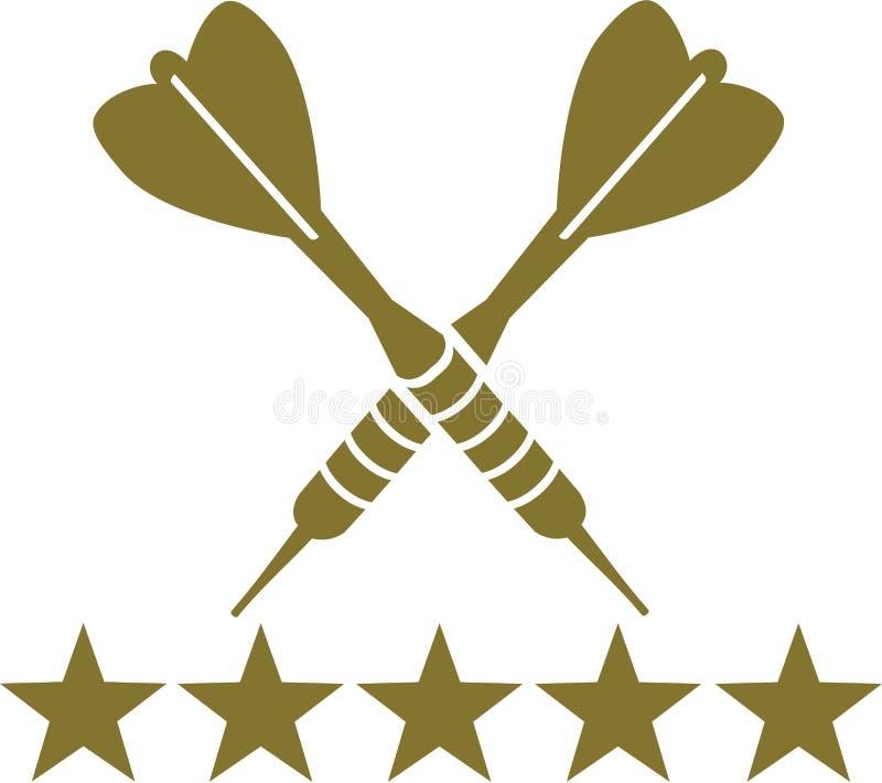 Dards avec des étoiles illustration libre de droits