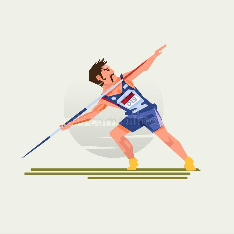 Dardy miotania atlety mężczyzna - ilustracji