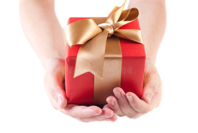 Dare un regalo fotografia stock