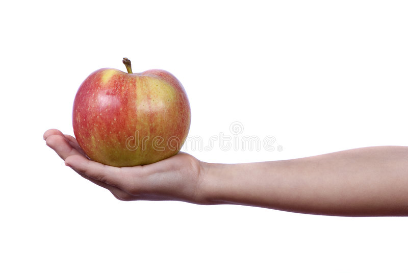 Dare una mela immagine stock libera da diritti