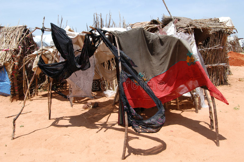 Download Darfur Shelters editorial stock photo. Image of shelter - 7667798