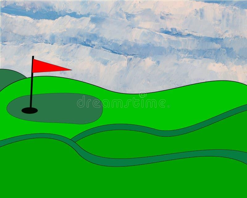 Dargestellt golfgreen vektor abbildung