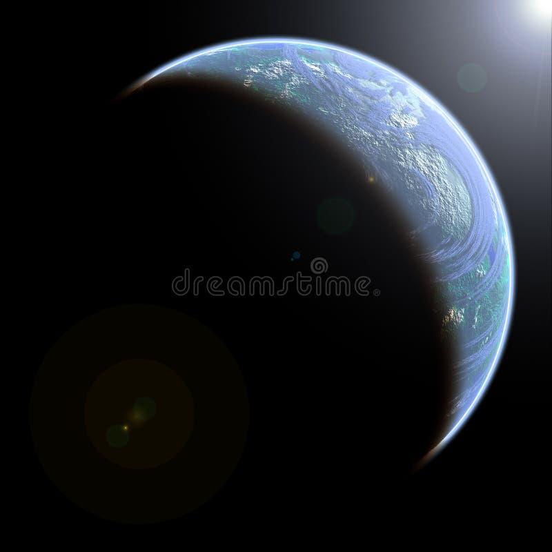 Dargestellte Erde stock abbildung