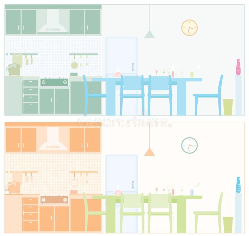 Dargestellte Küche lizenzfreie abbildung
