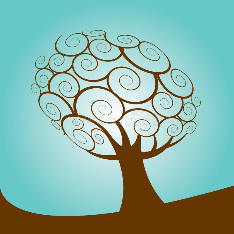 Dargestellter abstrakter Baum lizenzfreie abbildung
