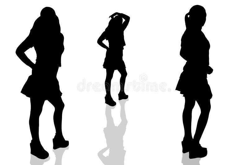 Dargestelltes woman-16 lizenzfreie abbildung