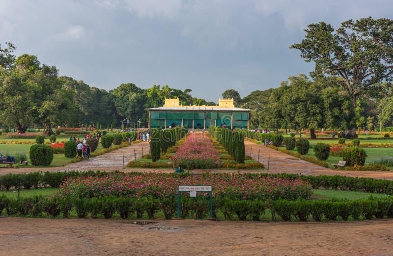 Daria Daulat Bagh av den Tipu sultan, Mysore, Indien arkivfoton