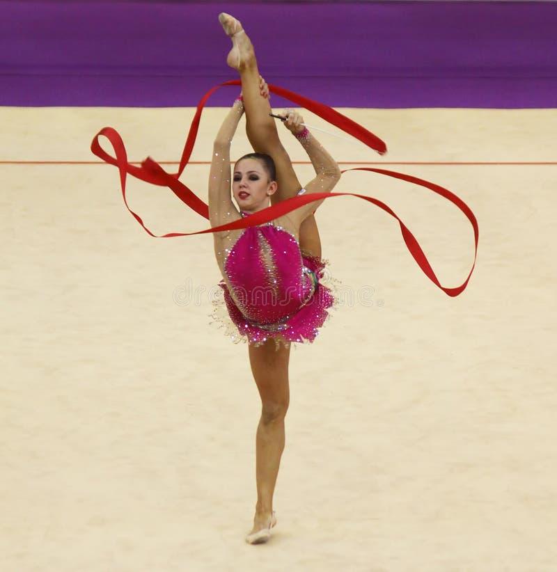 Daria Dmitrieva (Russia) at Deriugina Cup stock photo