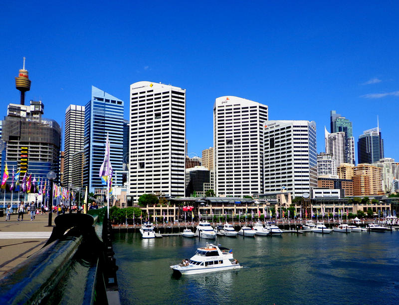 Daring Harbour. An colourful view of Daring Harbour in Sydney, Australia royalty free stock photography