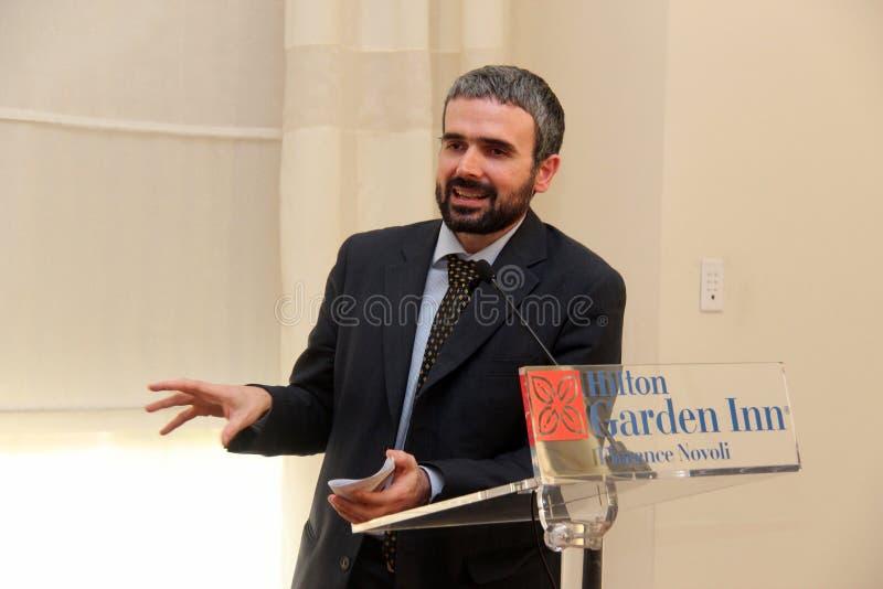 Dario Parrini Member du Parlement et du secrétaire de partie italiens Tuscan Pd photographie stock