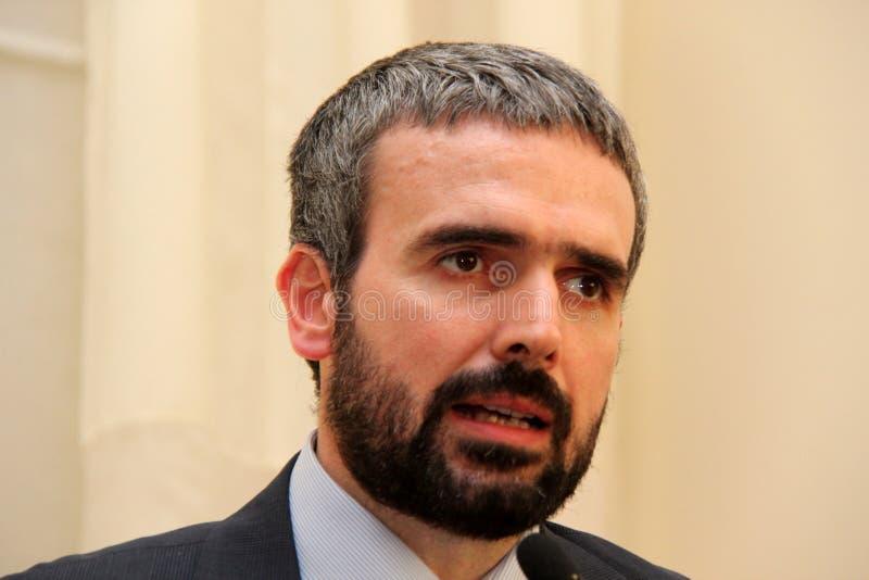 Dario Parrini Member du Parlement et du secrétaire de partie italiens Tuscan Pd photographie stock libre de droits
