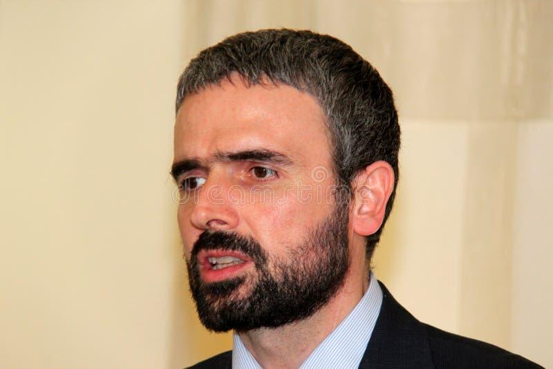 Dario Parrini Member du Parlement et du secrétaire de partie italiens Tuscan Pd photo libre de droits
