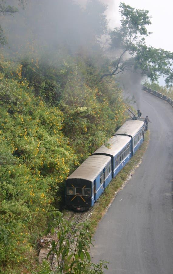 darjeeling的喜马拉雅铁路培训 库存图片