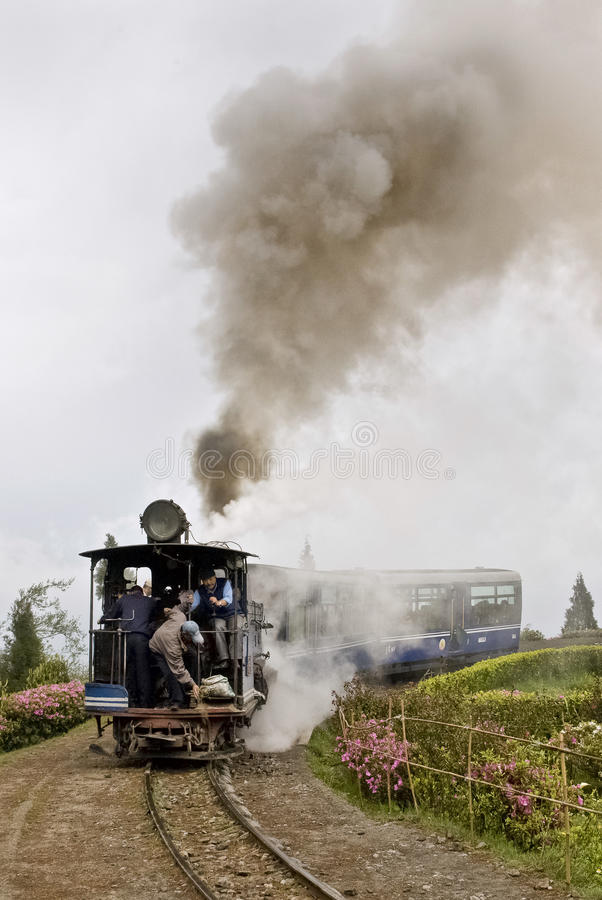 darjeeling поезд игрушки стоковое изображение