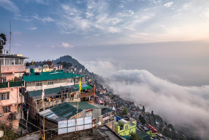 Darjeeling foggy day royalty free stock photography