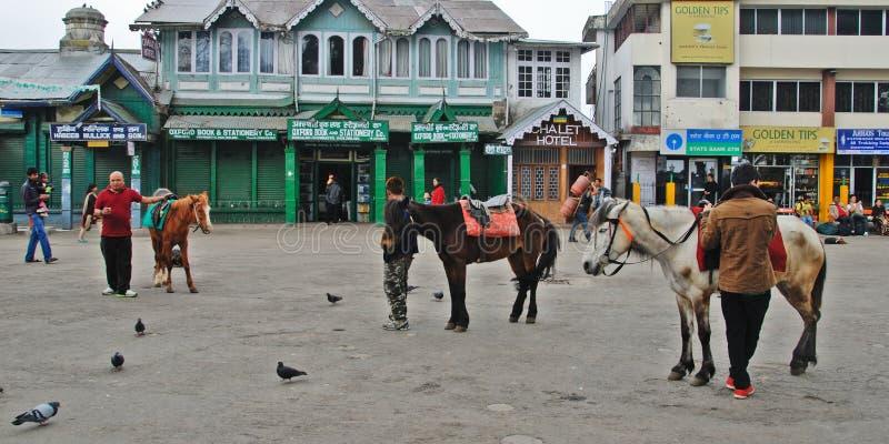 Darjeeling Mall-Straße lizenzfreie stockfotografie