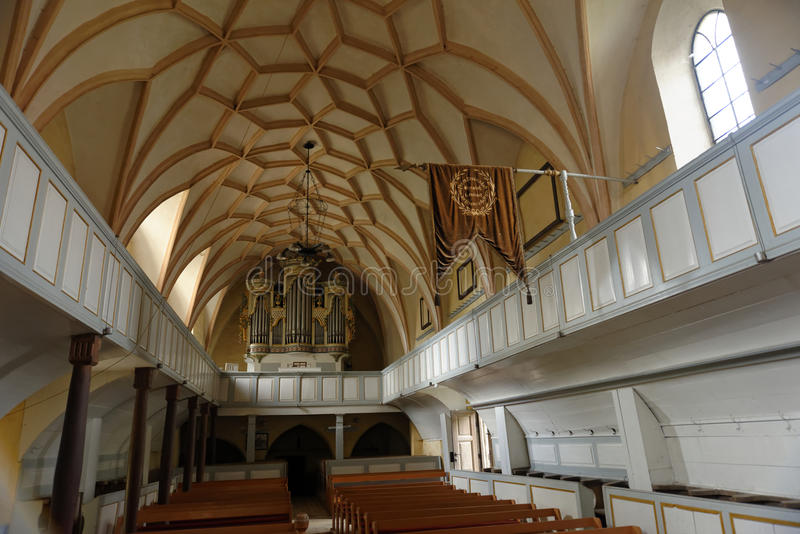 Darjiu加强了教会,科瓦斯纳,特兰西瓦尼亚,罗马尼亚 免版税库存照片