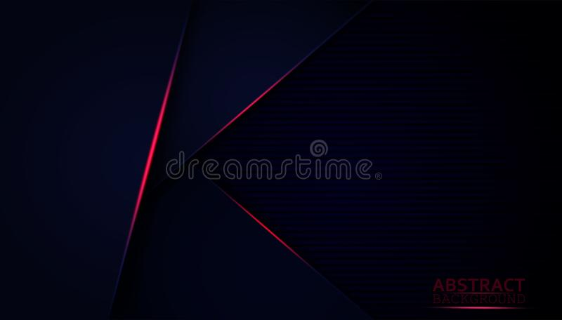 Dark abstract background with blue overlay layers. Modern shape with sparkle red light decoration. And the design elegant and is used as an illustration or stock illustration
