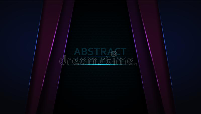 Dark abstract background with Colorful overlay layers. Modern shape with sparkle colorful light decoration. And the design elegant and is used as an vector illustration