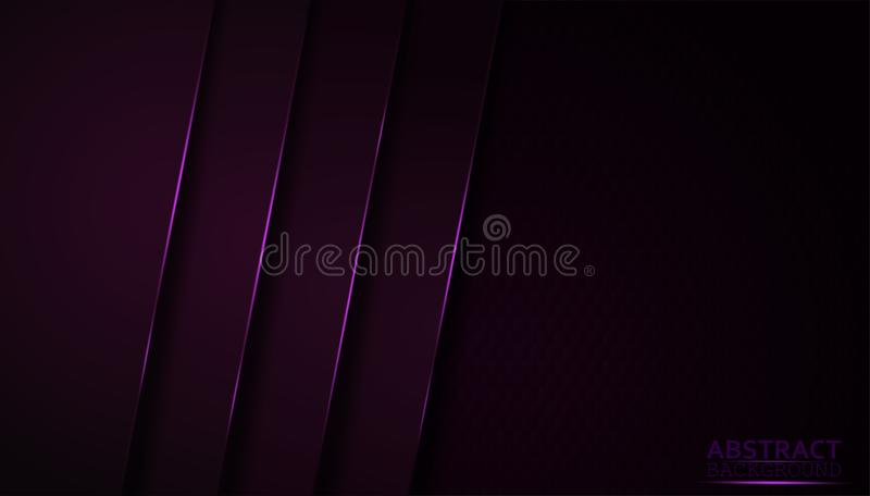 Dark abstract background with purple overlay layers. Modern shape with sparkle pink light decoration. And the design elegant and is used as an illustration or vector illustration