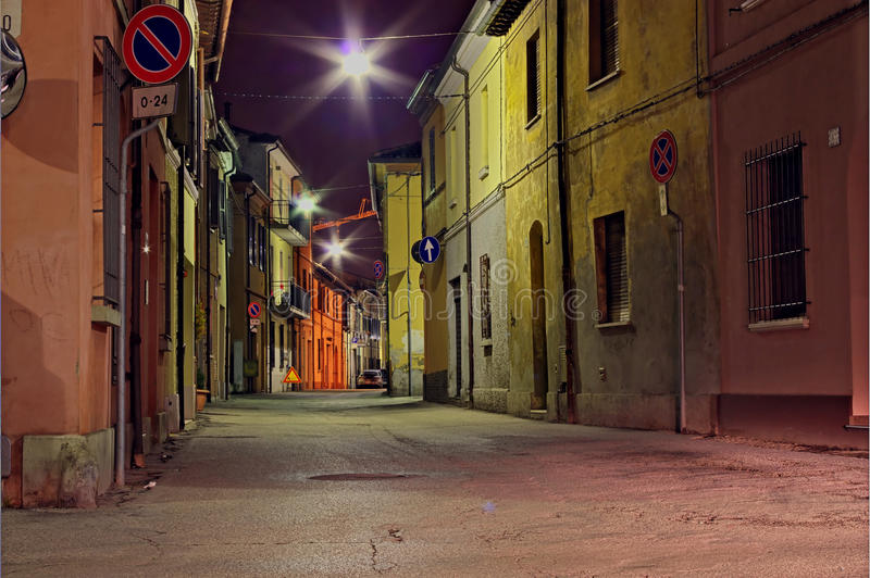 Dark alley. Grunge dark alley, slums of the city, dirty corner of street, the decadent old town, street at night in the slum, distressed italian alleyway stock images
