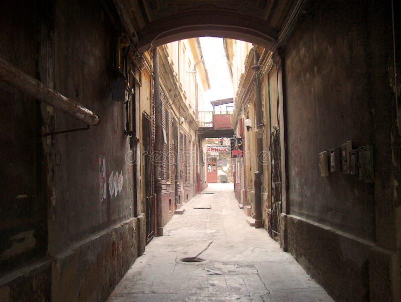 Download Dark alley in old city stock photo. Image of dark, light - 10870356