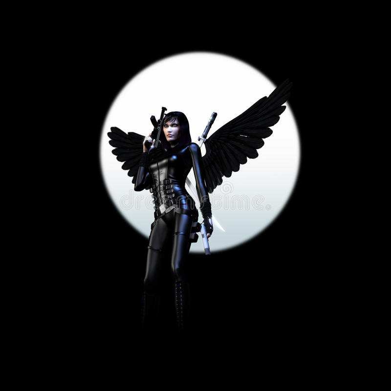 Dark Angel 02 stock illustration