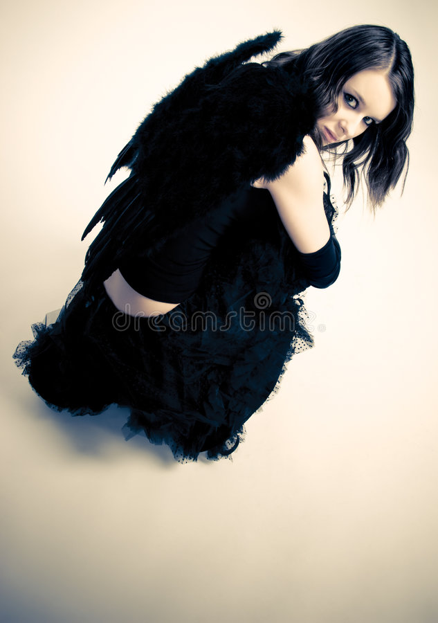 Download Dark angel stock image. Image of fearful, contrast, person - 5070615