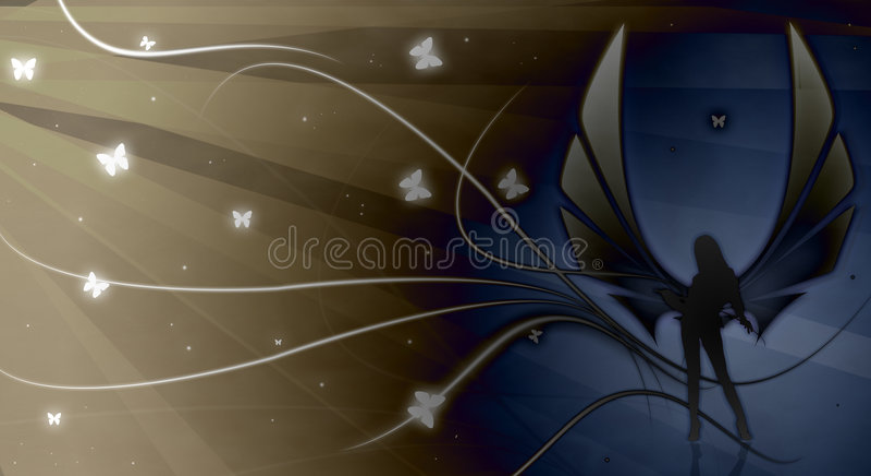 Download Dark Angel stock illustration. Illustration of female - 7495162