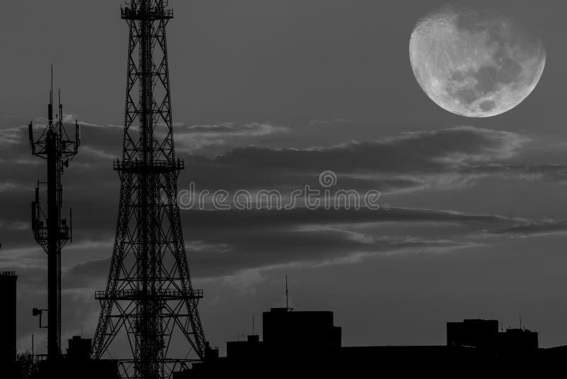 Dark antenna stock photography