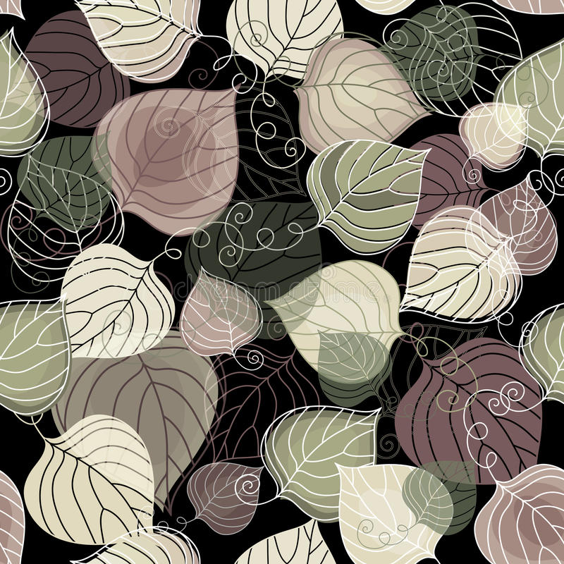 Dark autumn seamless pattern vector illustration
