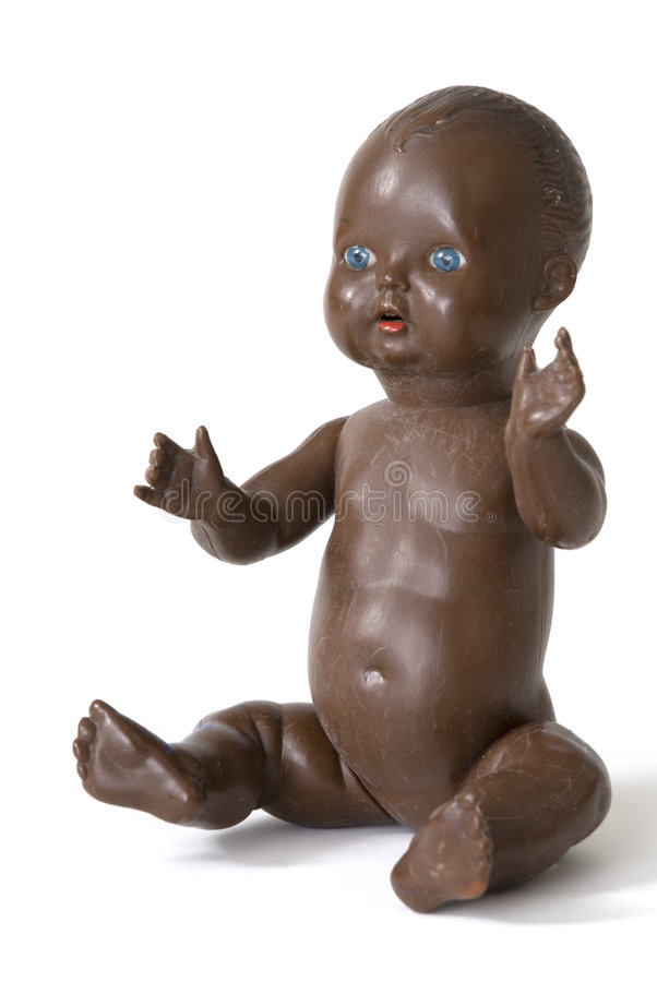 Dark baby-doll royalty free stock images