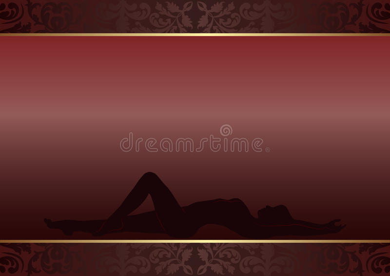 Download Dark background stock vector. Image of female, legs, stomach - 23519908