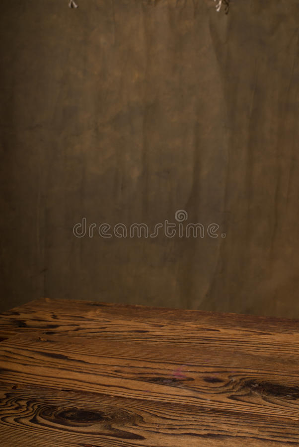 Dark background. A old desk with dark background stock photos