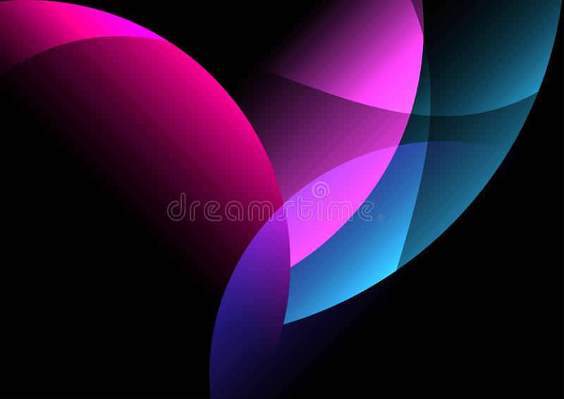 dark background abstract and corlorful stock illustration
