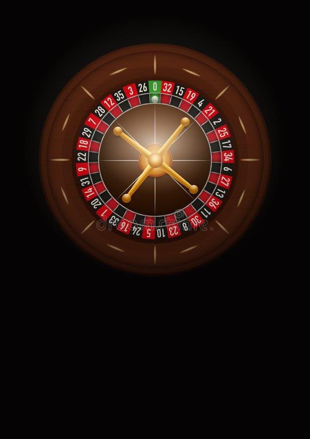 Dark Background of casino roulette. Vector. Dark Background of casino roulette. Symbol of gambling. Realistic Vector Illustration vector illustration