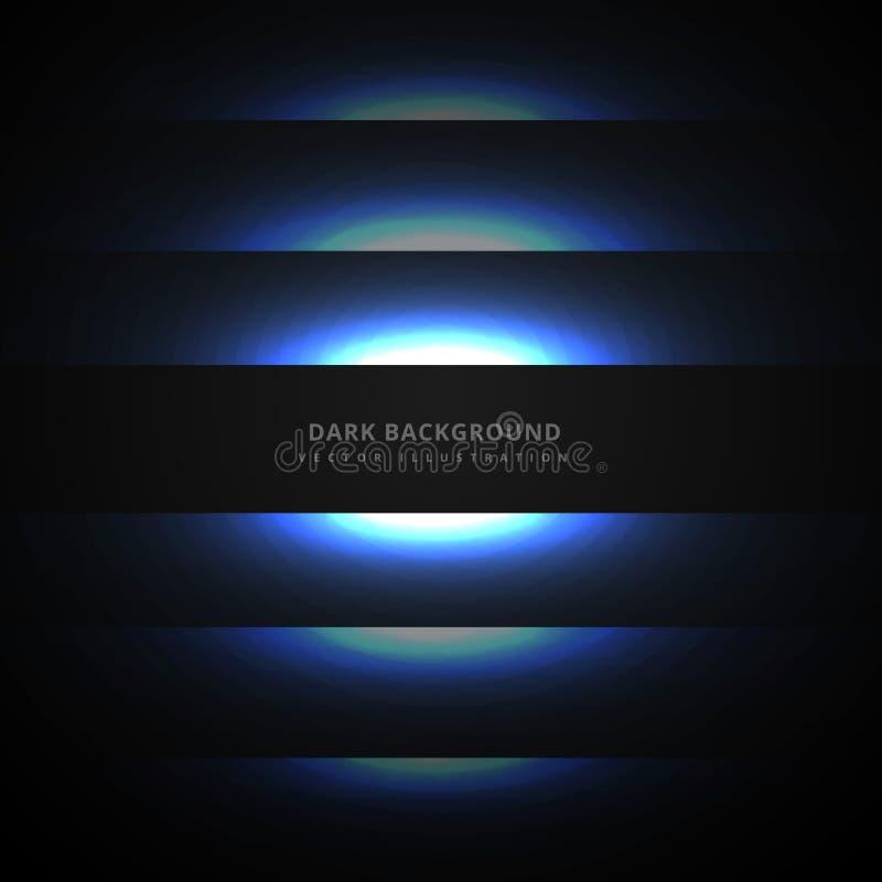 dark background with glowing blue neon lines vector design illus vector illustration