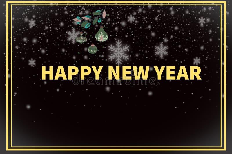 Dark background of happy new year stock illustration