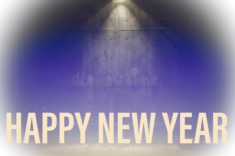 Dark background of happy new year stock images