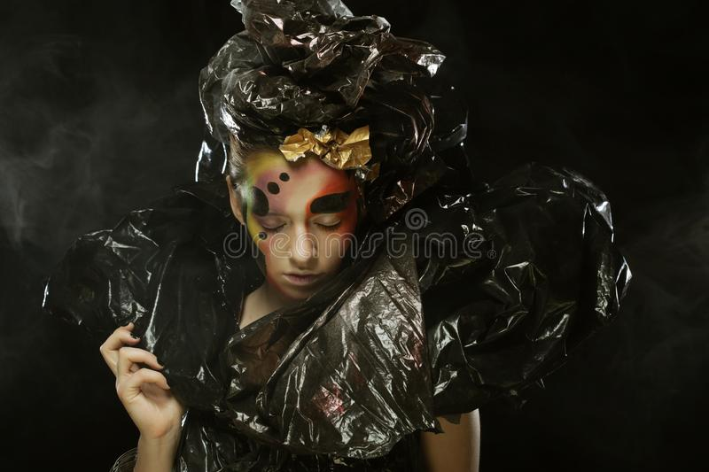 Dark Beautiful Gothic Princess.Halloween party royalty free stock photo