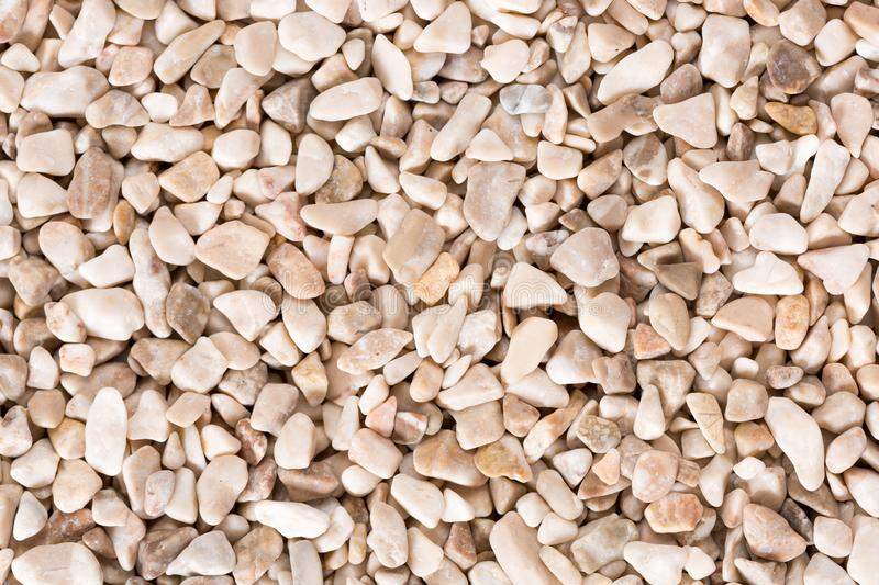 Dark beige fine pebbles texture. High resolution photo for background. royalty free stock photography