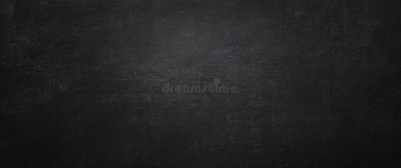 Dark and black chalkboard background, empty wall royalty free stock image