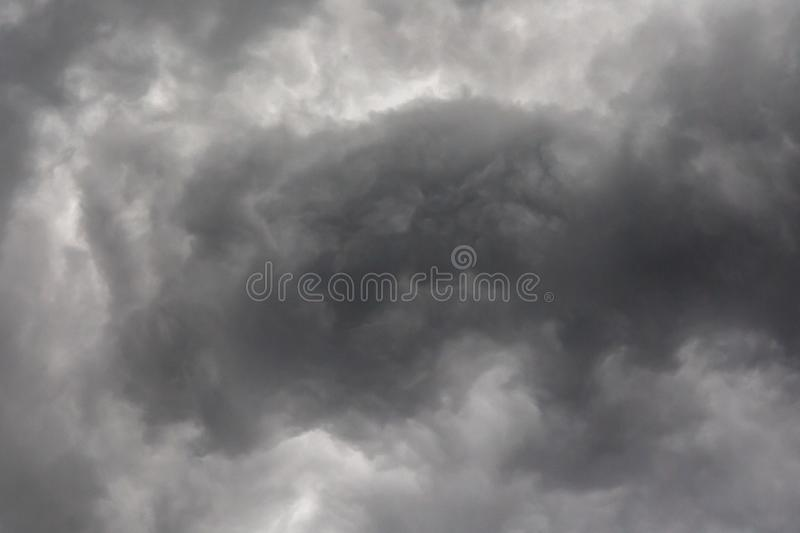 Dark or black clouds on the sky before storm raining. Clouds background royalty free stock photography