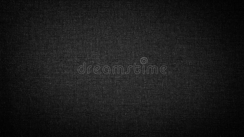 Dark black white linen canvas. The background image, texture.  royalty free stock photography