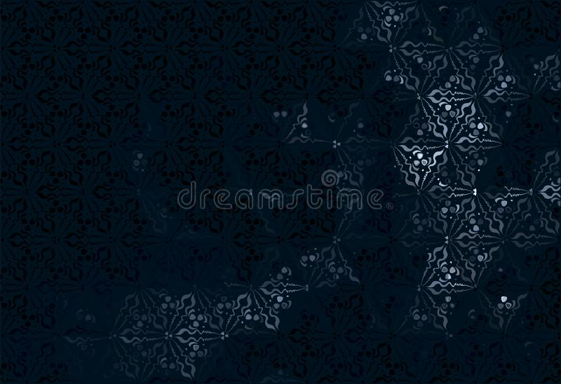 Dark blue abstract background with light blurry smoke royalty free illustration