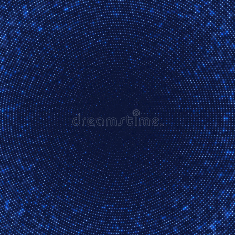 Dark blue abstract background with light circles. vector illustration