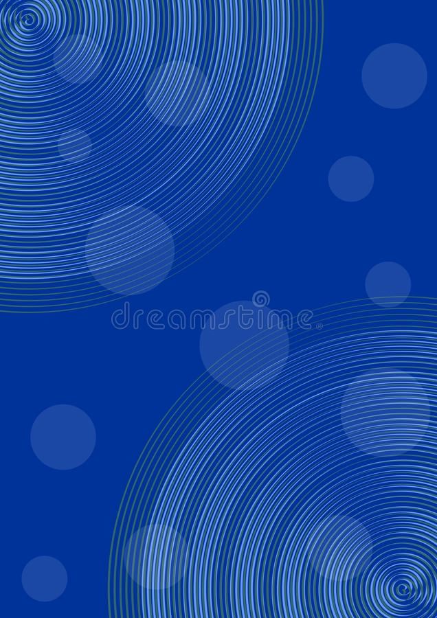 Dark blue abstract background with semitransparent circle elements. Elegant graphic background for white text. Vector EPS 10 vector illustration